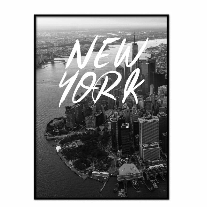 Poster New York brushed