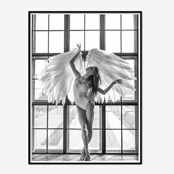 Poster Photo Art Angel (Black & White)