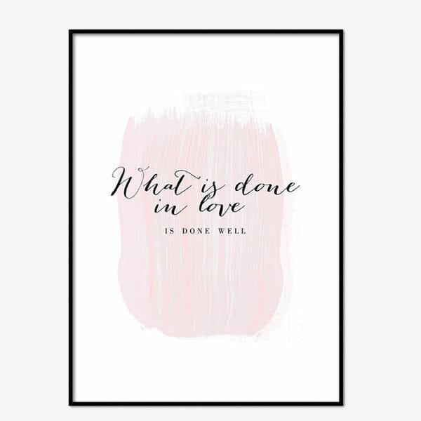 Poster Pink Brush