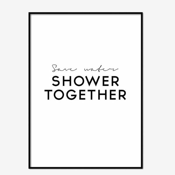 Poster Shower Together