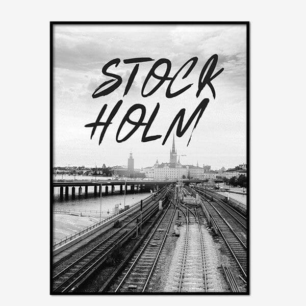 Poster Stockholm Brushed 1