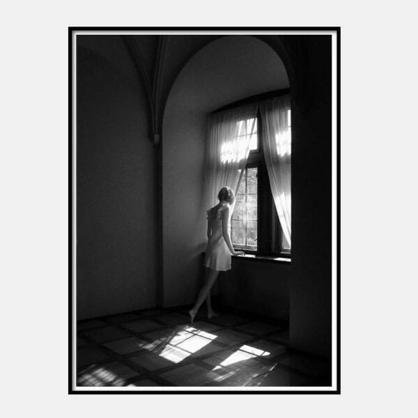 Poster Woman at Window