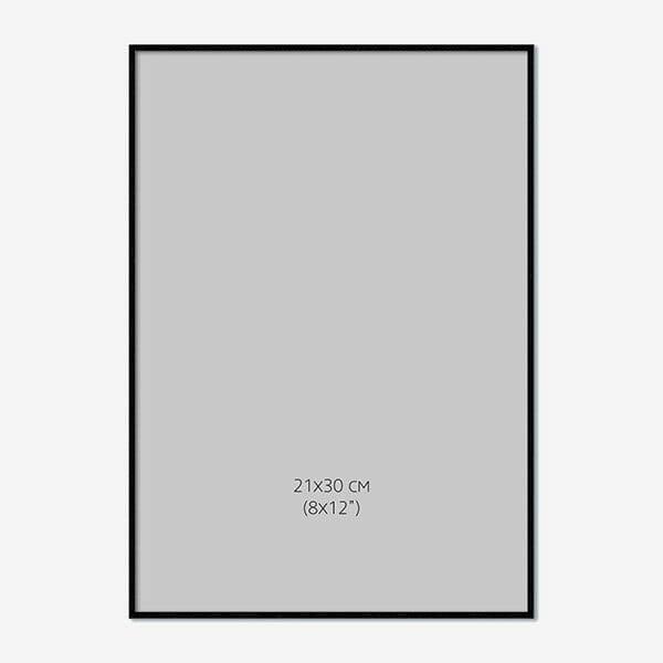 Svart Träram 21x30cm