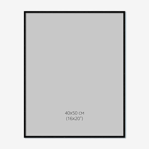 Svart Träram 40x50cm
