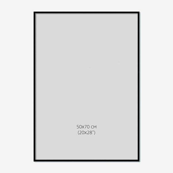 Svart Träram 50x70cm