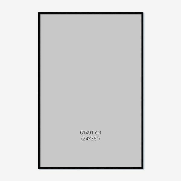 Svart Träram 61x91cm
