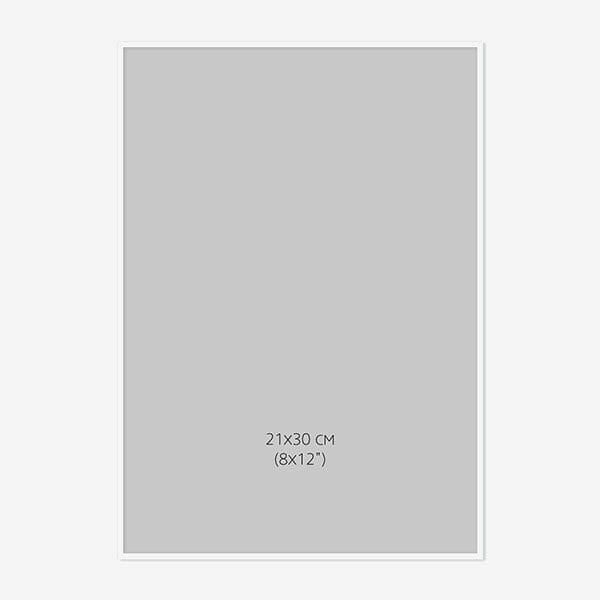 Vit Träram 21x30cm