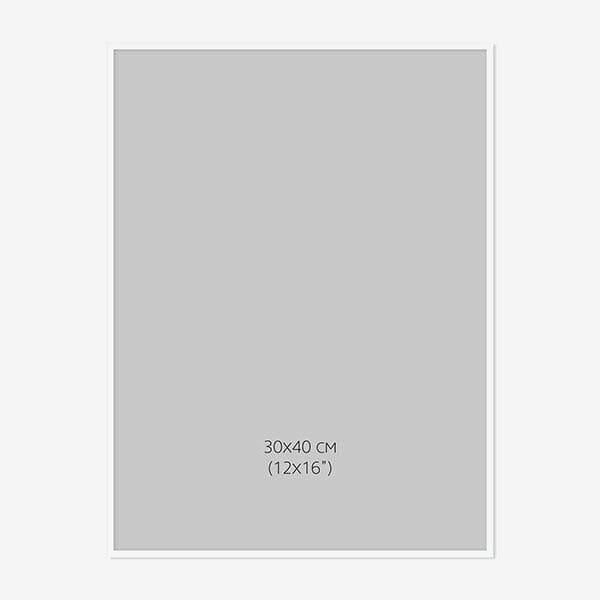 Vit Träram 30x40cm