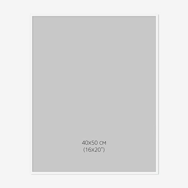 Vit Träram 40x50cm