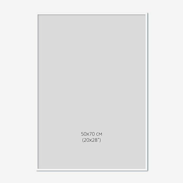 Vit Träram, 50x70cm
