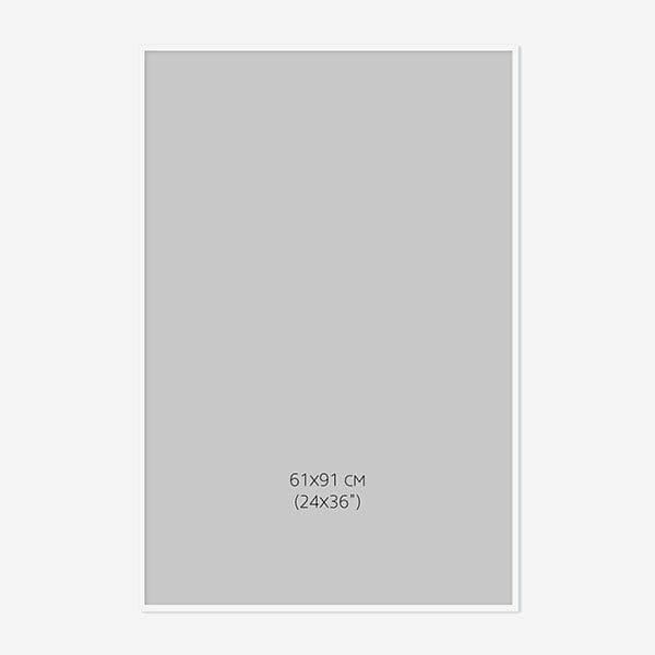 Vit Träram, 61x91cm