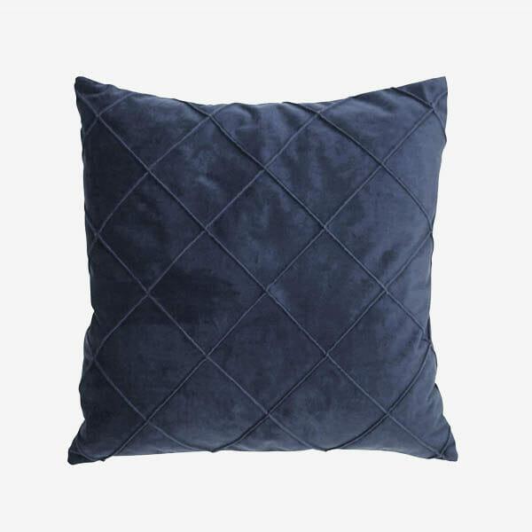 Kuddfodral Jonna sammet, Mörkblå (50 x 50 cm)