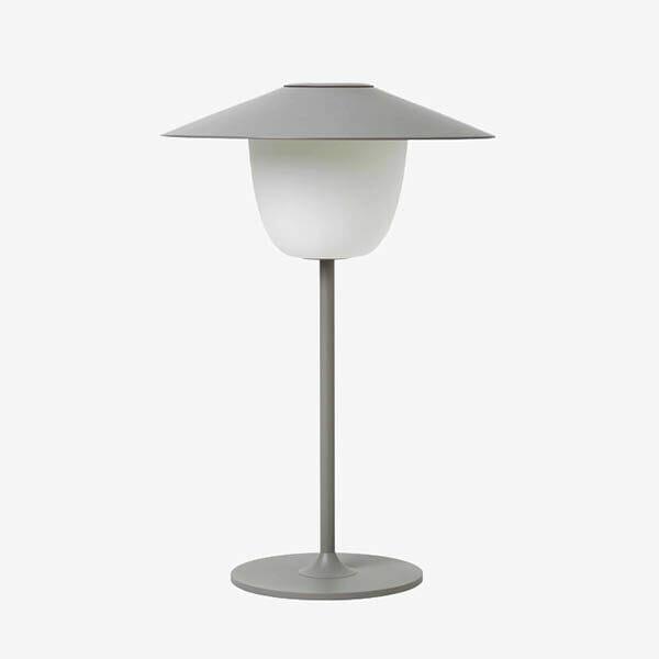 Blomus trådlös LED-lampa, Ljusgrå