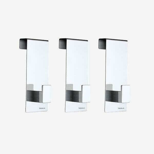 Dörrkrokar Menoto blank stål 3-pack