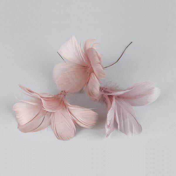 Fjädrar Blomma Gammelrosa, 12-pack