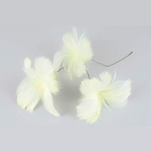 Fjädrar blomma Gul, 12-pack