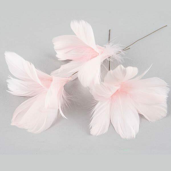 Fjädrar blomma Ljusrosa, 12-pack