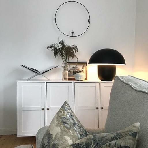 Carl-Johan bordslampa, Svart
