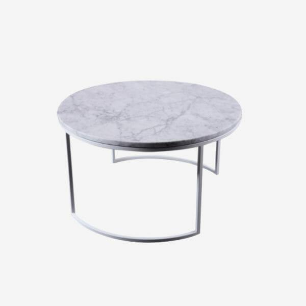 Kraljevic runt bord ljus marmor/grå
