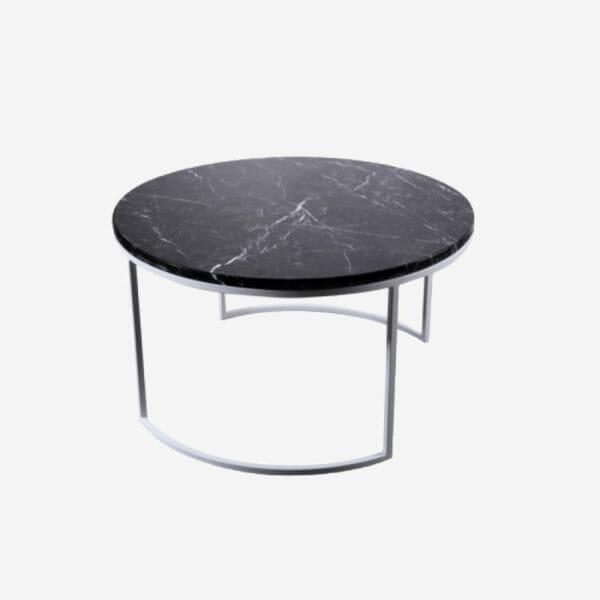 Kraljevic runt bord svart marmor/grå