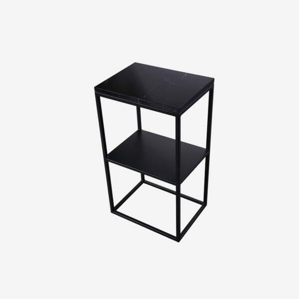 Kraljevic Sängbord svart marmor, svart