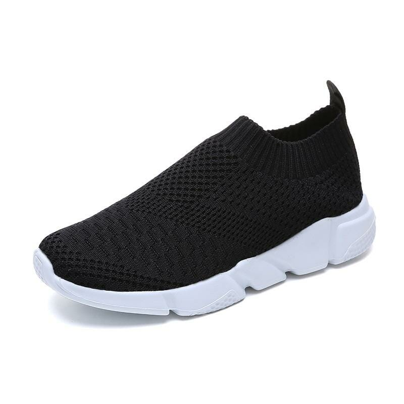 Slip on sneakers svart
