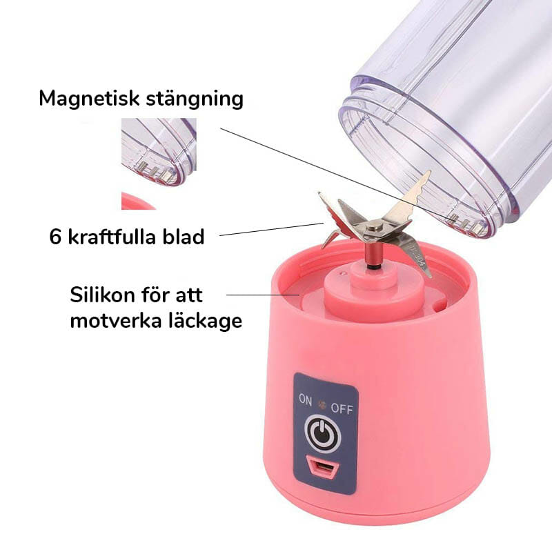 Trådlös mixer med inbyggt batteri (Mixblender)