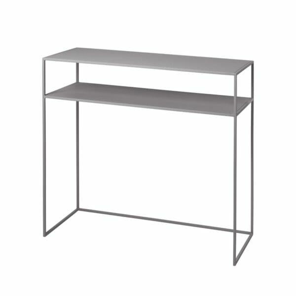 Konsolbord Juniper med hylla, Ljusgrå