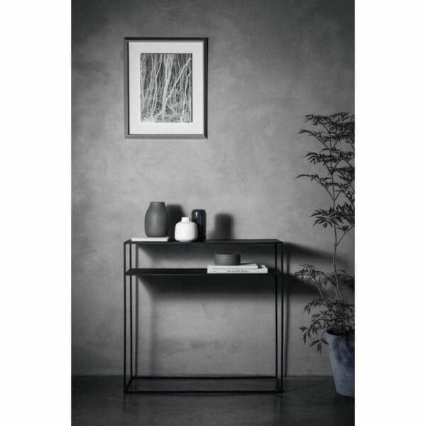 Konsolbord Juniper med hylla, Mörkgrå