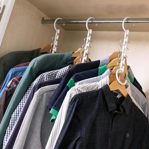 Smarta galgar för 40 klädhängare (24 delar)