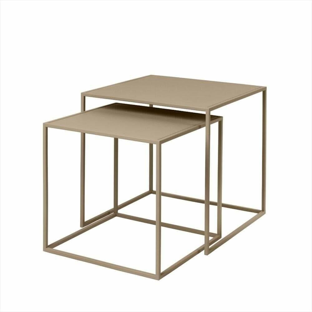 Satsbord Juniper 2 bord, Beige