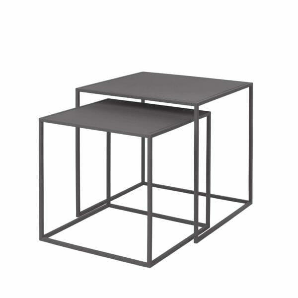 Satsbord Juniper 2 bord, Mörkgrå