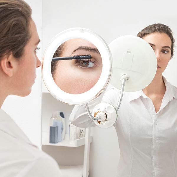 Spegel förstoring med LED, rörlig arm