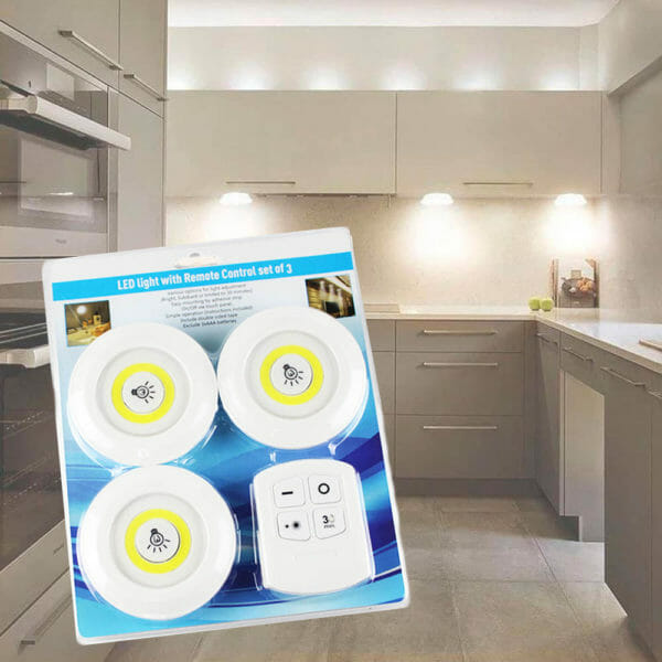 LED-spotlights Batteridrivna 3-pack