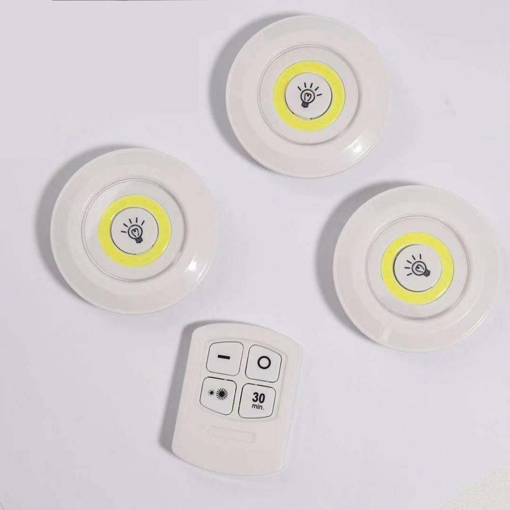 LED-spotlights trådlösa 3-pack