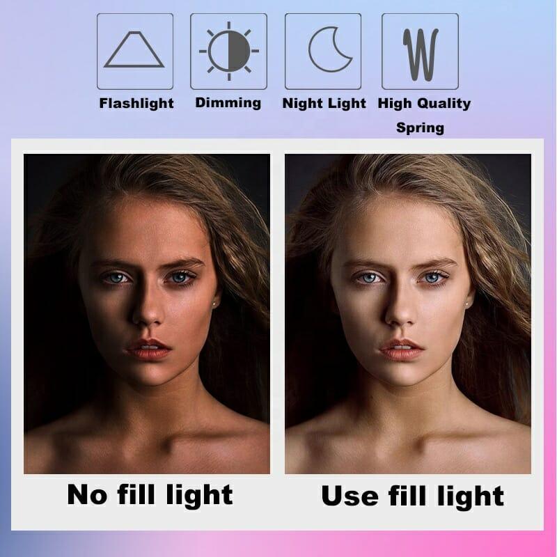 Selfie LED-lampa smartphone