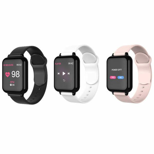 Smartwatch klocka Vattentät - Gummiarmband