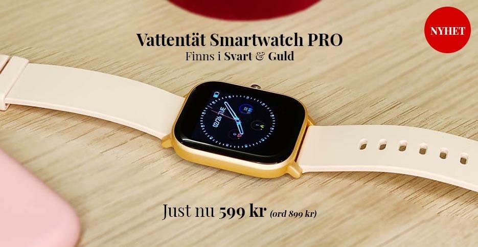Smartwatch vattentät smartklocka Guld