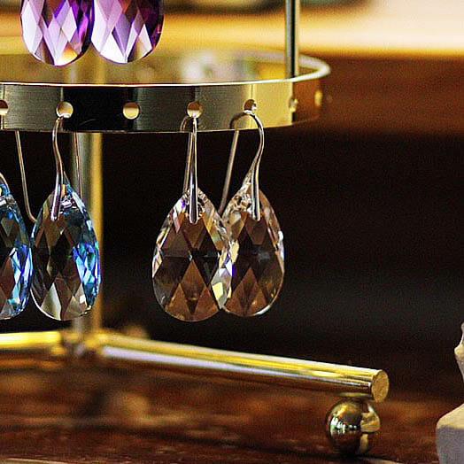 Swarovski Örhängen Droppe kristall