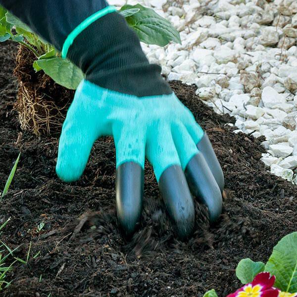 Trädgårdshandskar med klor (1 par)