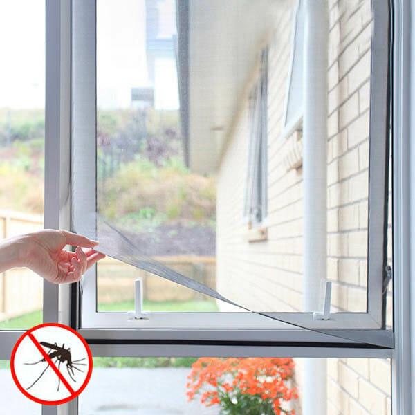 Myggnät med magnet till fönster