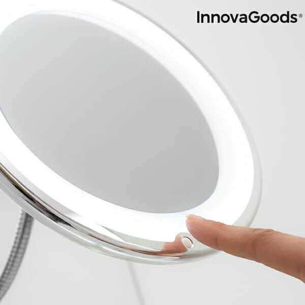Spegel förstoring med LED, rörlig arm - Boldliving.se