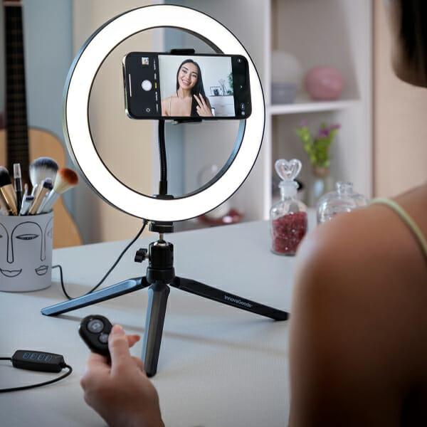 Ringlight Selfie med fjärrkontroll